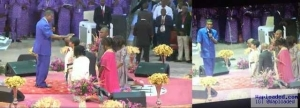 Bishop Oyedepo And His Family Kneel Down Before Pastor Adeboye (Must See Photos)